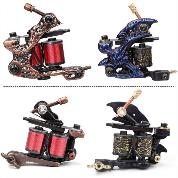 Pro Tattoo Machine Guns for Liner and Shader, 12 wraps coil