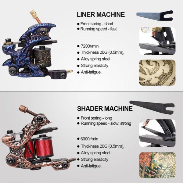 SOLONG Coil Tattoo Machine Kit TK270 7