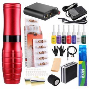 rhein R1 Professional complete tattoo kit red